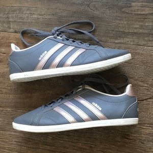 Adidas Neo Classic Gray Rose Gold Sneaker Size 6